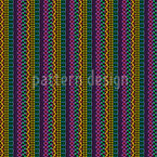 Intricate Ethno Stripes Seamless Vector Pattern Design