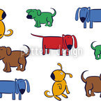 Doggy Style Seamless Vector Pattern Design