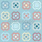 Gyro In Pastel Seamless Vector Pattern Design