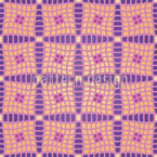 Violas Patchwork Quilt Vector Ornament