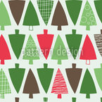 Christmastree Alley Seamless Vector Pattern Design