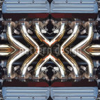 Motor Für Mann Nahtloses Vektor Muster