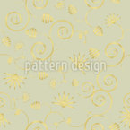 Gold Flora Seamless Vector Pattern Design