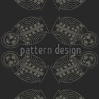 Matryoschka By Night Seamless Vector Pattern Design