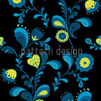 Paisley Flowers By Midnight Seamless Vector Pattern Design