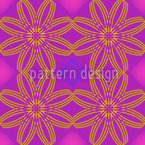 A Floral Line Seamless Vector Pattern Design