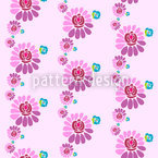 Darling Flowers Seamless Vector Pattern Design