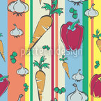 Verduras de colores Estampado Vectorial Sin Costura