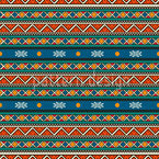 Tribal Stripes Seamless Vector Pattern Design