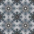 Stoneflowers Seamless Vector Pattern Design