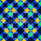 Square Mosaic Seamless Vector Pattern Design