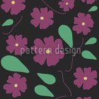 Viola On Black Repeating Pattern