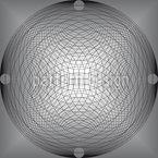Hypnotisches Zirkelleuchten Rapportiertes Design