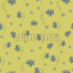 Little Flower Blues Seamless Vector Pattern Design
