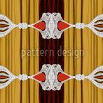 Vorhang Auf Für Barock Nahtloses Vektormuster