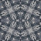 Flora Landet Auf Grau Vektor Muster