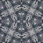 Flora Landing On Grey Seamless Vector Pattern Design