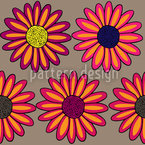 Marguerites Multicolor Seamless Vector Pattern Design