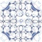Kreise So Blau Nahtloses Vektormuster