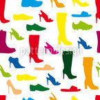 Shoes Seamless Vector Pattern Design