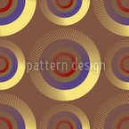 Goldene Zielkreise Nahtloses Muster