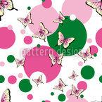 Schmetterlinge Nahtloses Vektor Muster
