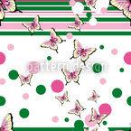 Schmetterlinge Streifen Umher Nahtloses Vektormuster