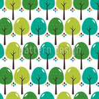 Los Bosques De El Bosque Estampado Vectorial Sin Costura