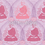 Buddha Romance Seamless Vector Pattern Design