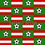 Soccer Made In Austria Seamless Pattern
