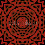 Orient Express Red Seamless Vector Pattern Design