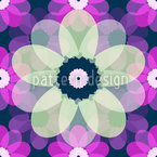 Paper Anemones Seamless Vector Pattern Design