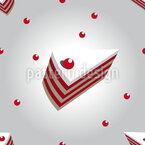 Sahne Kirsch Torte Nahtloses Vektormuster