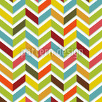 Color de Chevron Estampado Vectorial Sin Costura