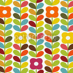 My Childhood Garden Seamless Vector Pattern Design