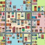 Stadtplan Nahtloses Vektormuster