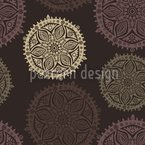 Pop Up Mandala Seamless Vector Pattern Design