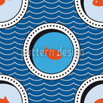 Portholes Of The Goldfish Pond Seamless Vector Pattern Design