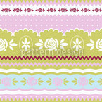 Little Rosy Ring Seamless Vector Pattern Design