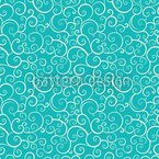 Aqua Love Seamless Vector Pattern Design