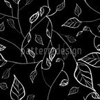 At Night In Leafy Forest Seamless Vector Pattern Design