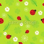 Ladybug Luck Seamless Vector Pattern Design