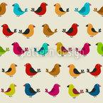Zwitschernde Vögel Nahtloses Vektor Muster