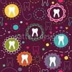 Die Zahnfee Nahtloses Vektormuster