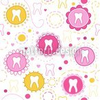 Sweet Primary Teeth Repeat Pattern
