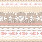 Little Rosy Soft Design de padrão vetorial sem costura