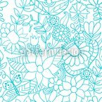 In The Garden Of The Snow Queen Seamless Vector Pattern Design