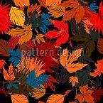 Blätter Im Beet Nahtloses Vektormuster