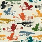 Historische Flieger Nahtloses Vektormuster