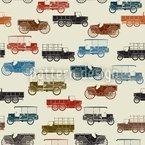 Vintage Cars Pattern Design